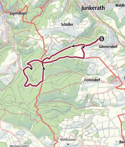 Karte / Waldwanderung zum Bärlauchfeld