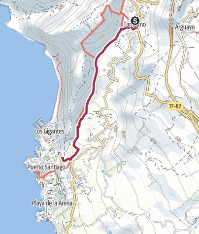 Karte / Von Tamaimo nach Los Gigantes