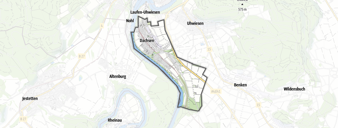 Hartă / Drumeții in Dachsen