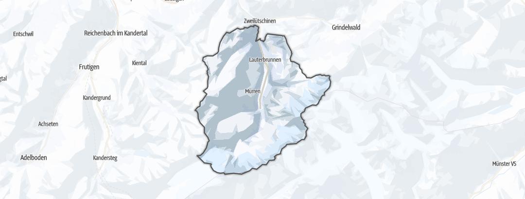 Hartă / Schi de tură in Lauterbrunnen