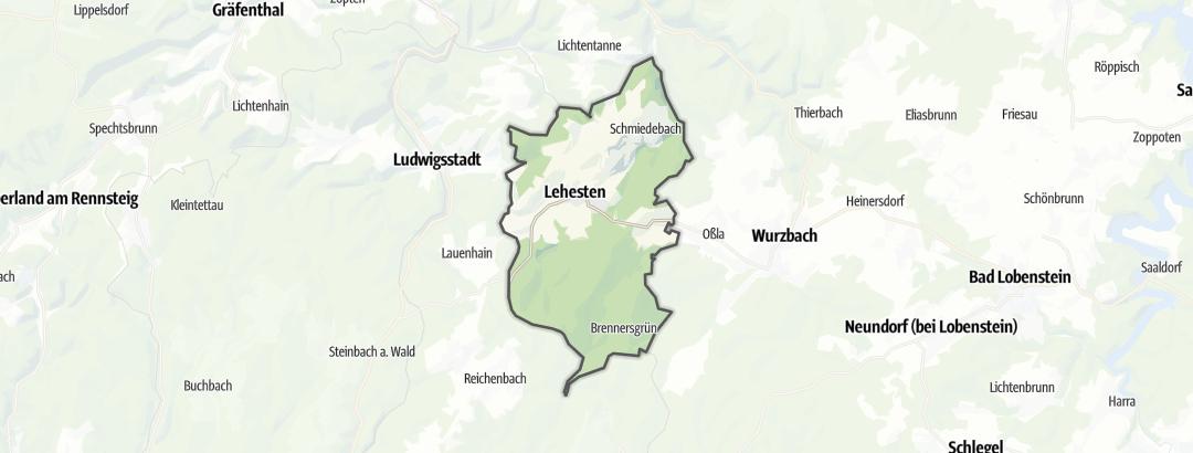 Karte / Wanderungen in Lehesten