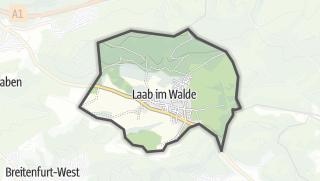 מפה / Laab im Walde