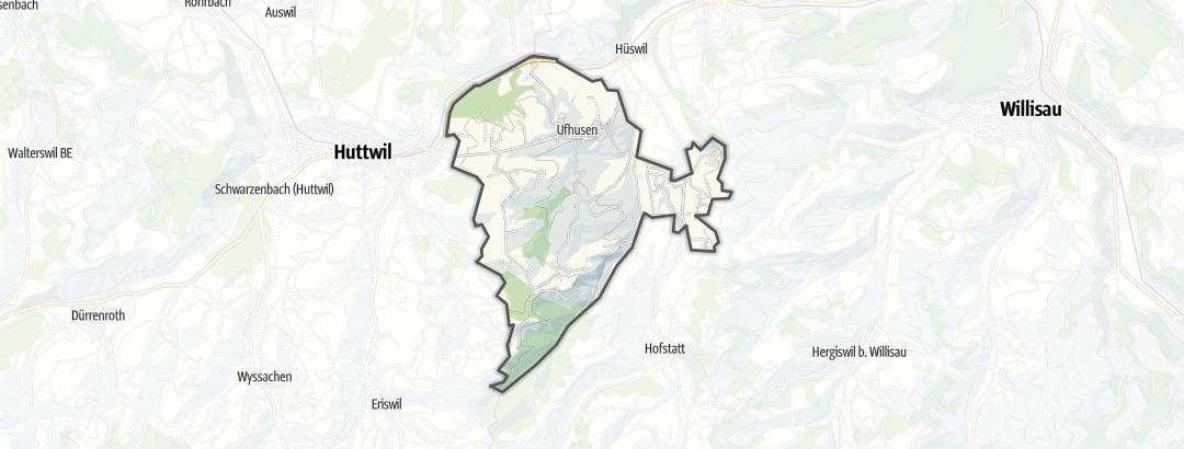 Kartta / Retkeily ja vaellus kohteessa Ufhusen