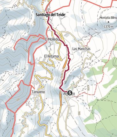 Karte / von Argyao nach Santiago del Teide