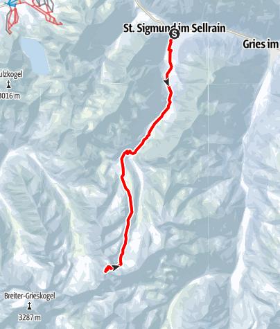 Karte / Gleirscher Fernerkogel  3189m