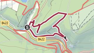 Karte / Rundweg von Katzenloch zum Hohenfels