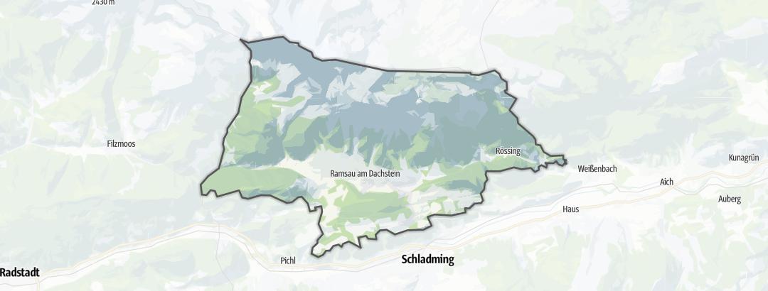 Map / Trail runs in Ramsau am Dachstein