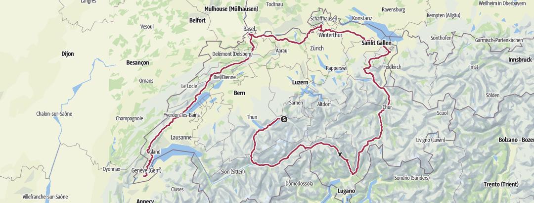Карта / Tourenplanung am 25. Januar 2015