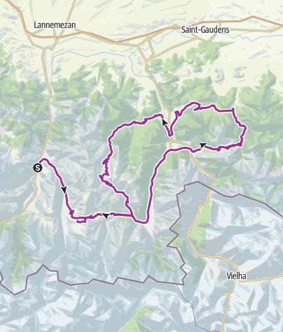 Cartina / Etappe 4 Pyrenäen 2015 bzw. tour 2017