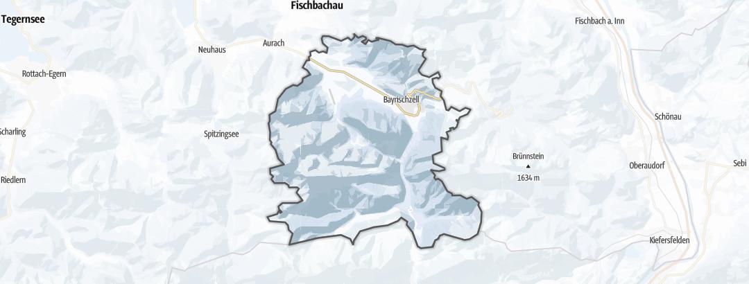 Karte / Skitouren in Bayrischzell