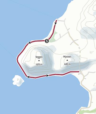 Karte / Einfache Küstenwanderung bei Uttakleiv (Lofoten)