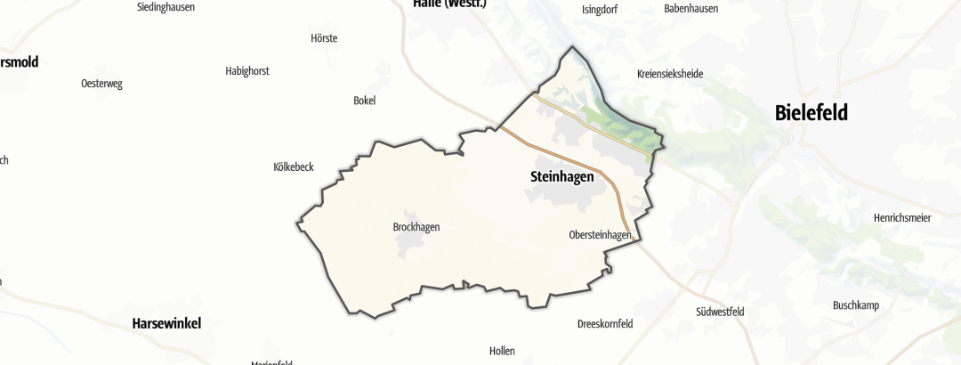 Kart / Sykkeltur i Steinhagen