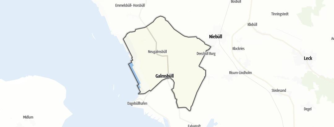 Karte / Wanderungen in Galmsbüll
