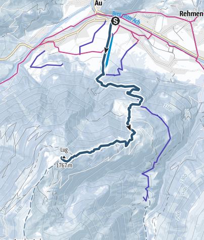 מפה / Brendler Lug von Au aus