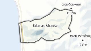 Térkép / Falconara Albanese