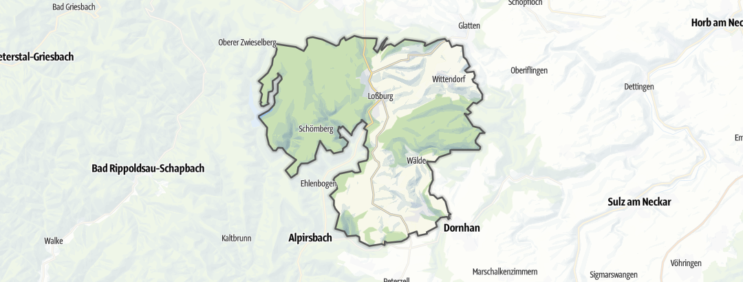 Mapa / Gastronomia em Lossburg