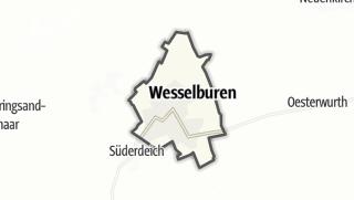 Mapa / Wesselburen