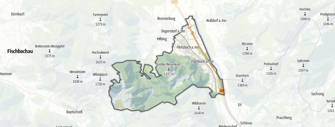 Karte / MTB-Touren in Flintsbach am Inn