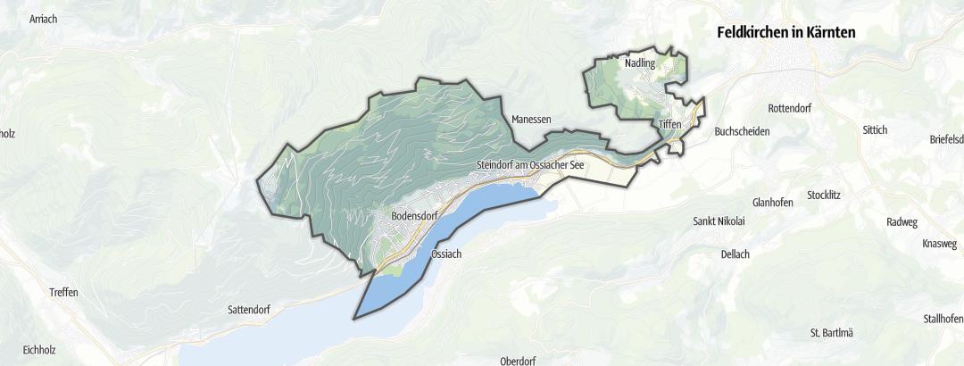 Карта / Пеший туризм в Steindorf am Ossiacher See