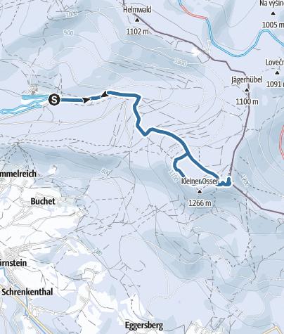 Karte / Schneeschuhwanderung Lambach - Großer Osser