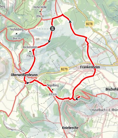 Karte / Von der Würzburger Bergbund Hütte zur Ruine Osterburg