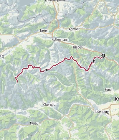 Map / AlpinArcTrail-03-Wald am Schoberpass-St Nikolai im Sölktal