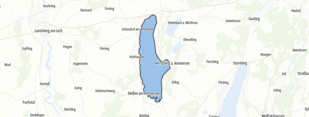 地图 / 在Landsberg am Lech里的远足
