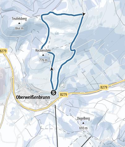 Karte / Schneeschuh Himmeldunk von Oberweißenbrunn