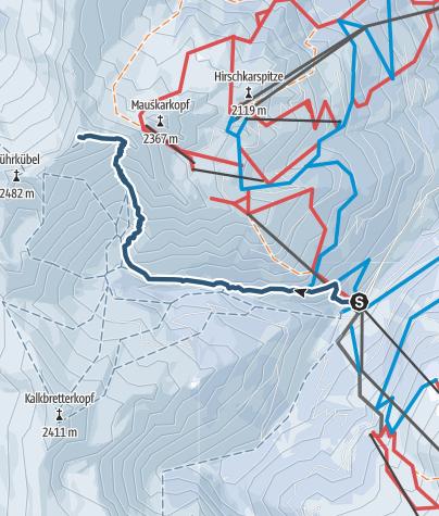 Karte / Tuerchlwand 2577m von Angertal