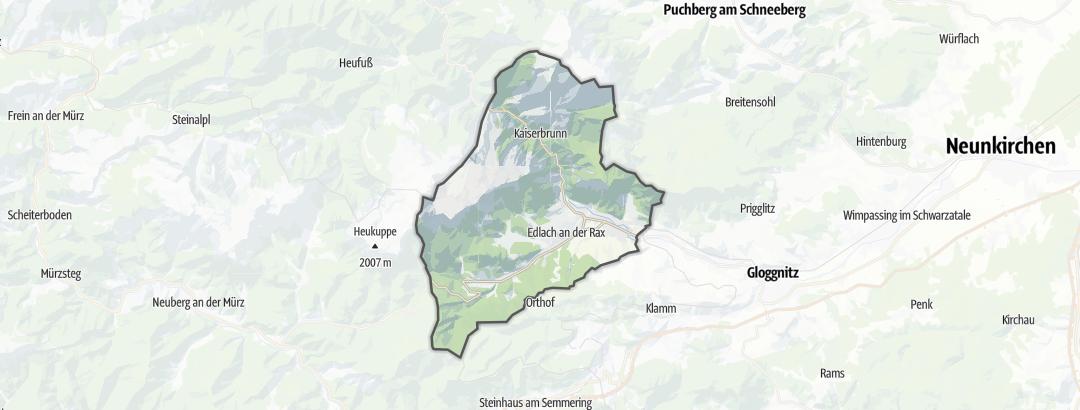 Karte / Berghütten in Reichenau an der Rax