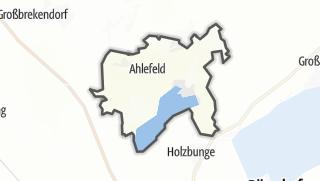 Karte / Ahlefeld-Bistensee