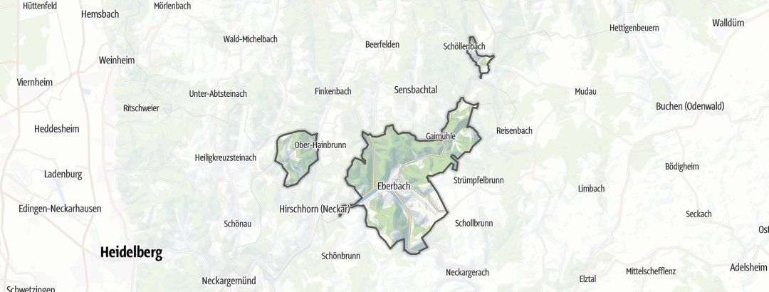 Karte / Themenwege in Eberbach