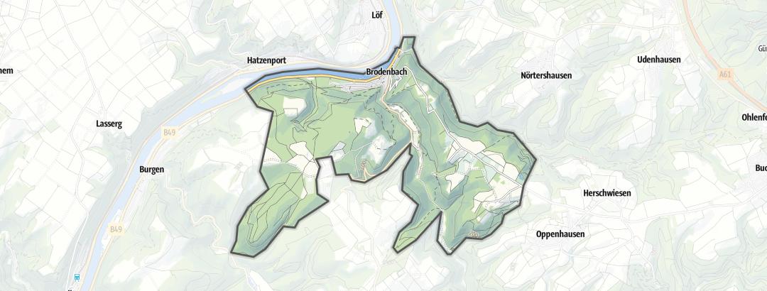 Karte / Wanderungen in Brodenbach