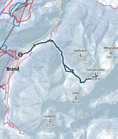 Karte / Skitour Eisernes Törle