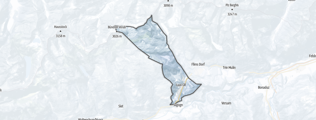 Map / Winter hikes in Laax