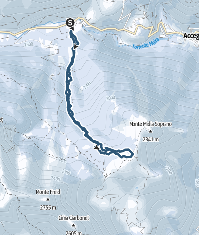Karte / Monte Estelletta, 2341m