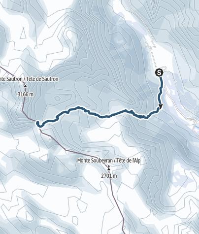 Karte / Colle del Sautron, 2368m