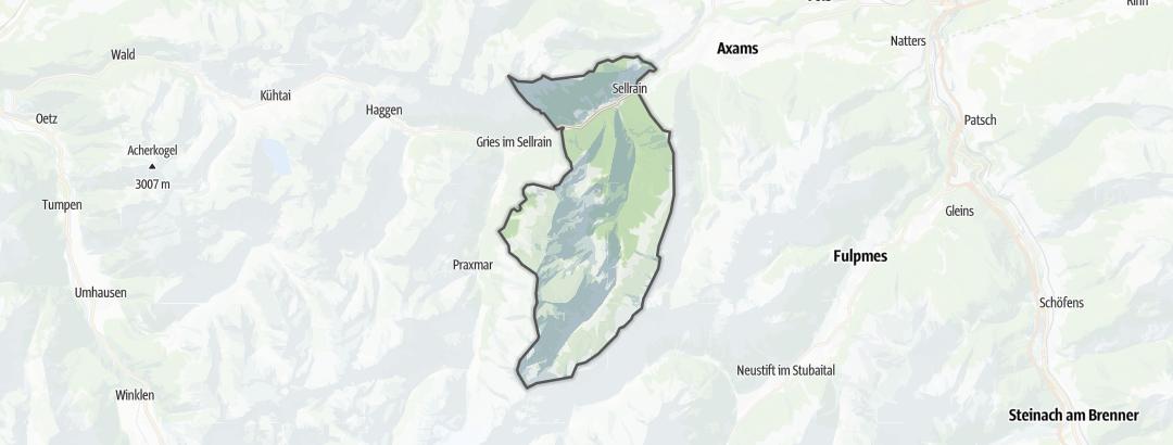 Karte / Wanderungen in Sellrain