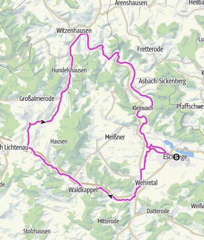 Karte / Rund um den Meißner