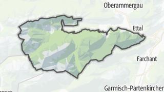 Karte / Garmisch-Partenkirchen, gemeindefreies Gebiet
