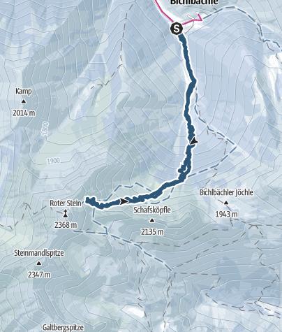 Karte / Roter Stein von Bichelbächle