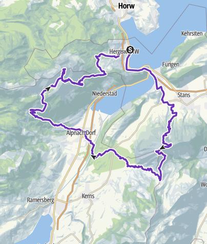 Karte / Stanserhorn-Pilatus Trail