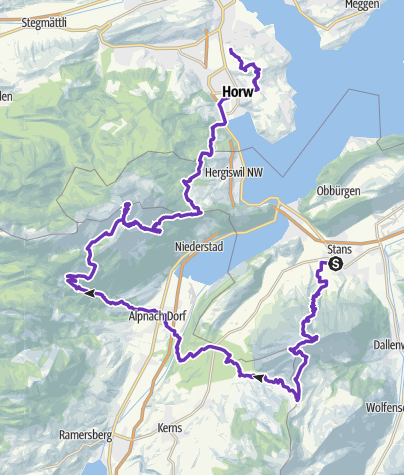Karte / Stans-Luzern Schlussstrecke Rütli Ultra