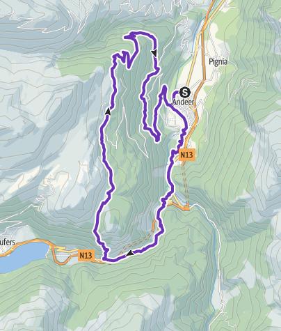 Karte / Rundstrecke Lai Lung – Lai Ner