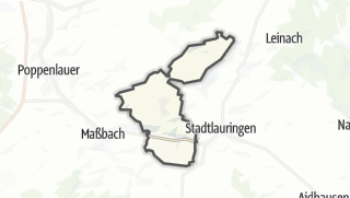 Carte / Thundorf in Unterfranken