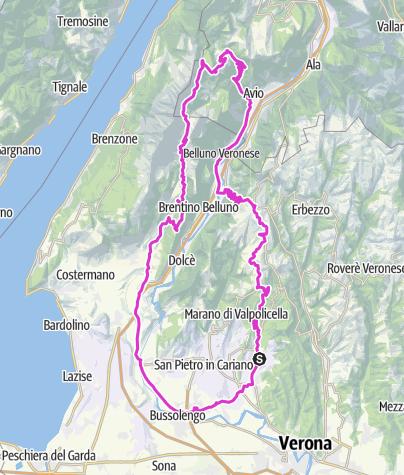 Mapa / Planung Negrar: NW_Baldo_115km_2800Hm