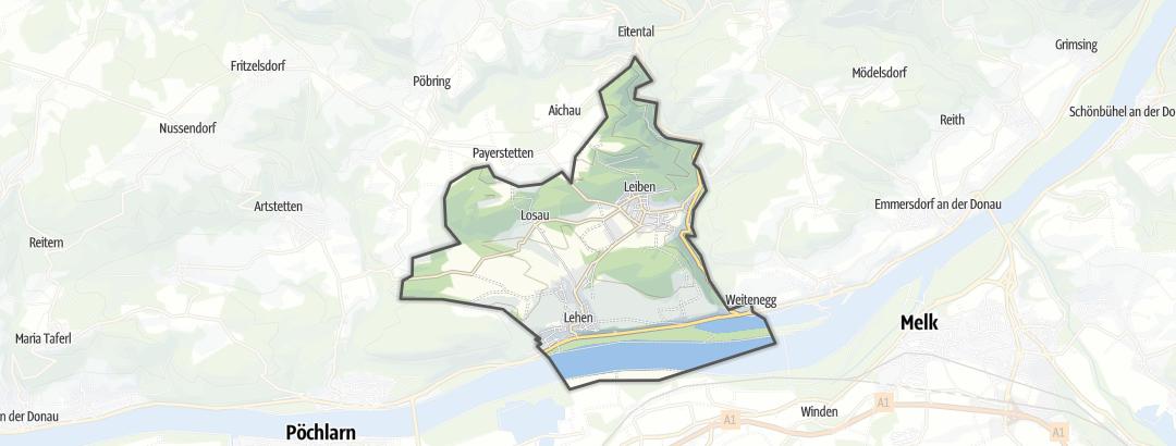 Karte / Radtouren in Leiben