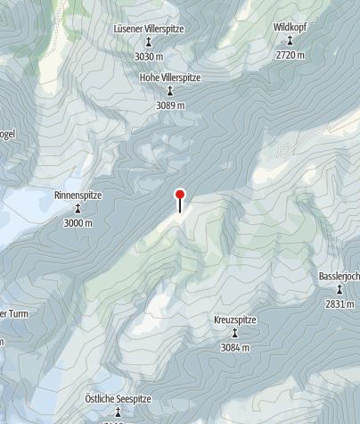 Karte / Gute Bedingungen auf dem Berglasferner