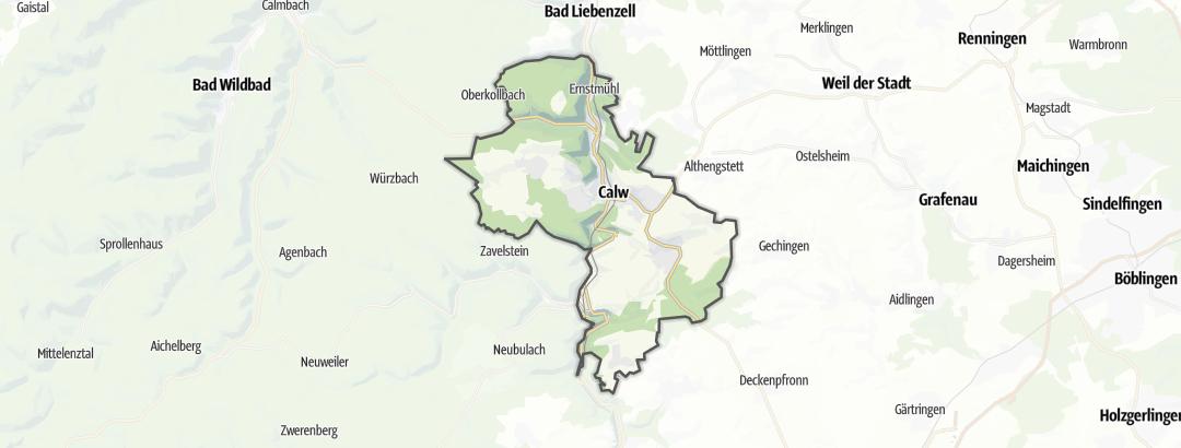 Karte / Wanderungen in Calw
