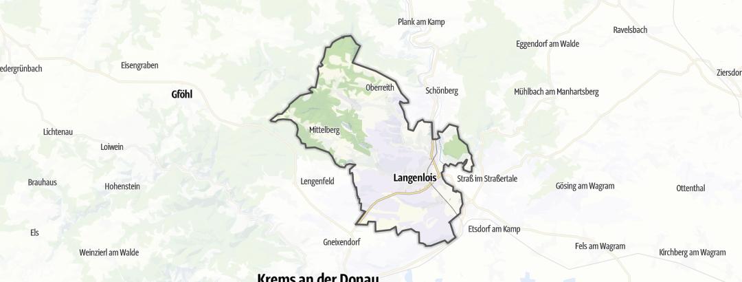 Karte / Radtouren in Langenlois